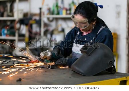üzlet · nők · kemény · munka · üzletasszony · előtér · férfi - stock fotó © Giulio_Fornasar