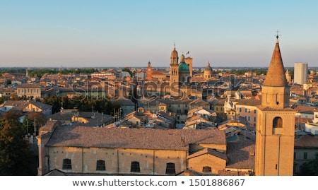 Bazilika ünlü kuzey İtalya taş din Stok fotoğraf © eddygaleotti
