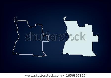 флаг · Ангола · изолированный · белый · бумаги · дизайна - Сток-фото © mayboro1964