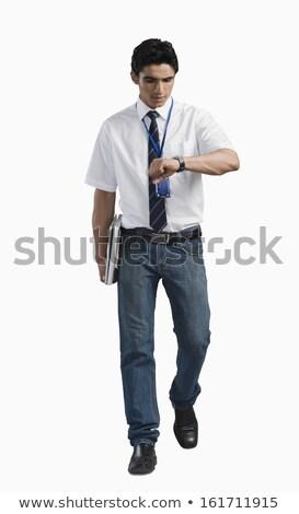 man walking on a filed stock photo © feedough