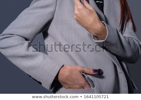 jóvenes · mujer · atractiva · suéter · barbilla - foto stock © deandrobot