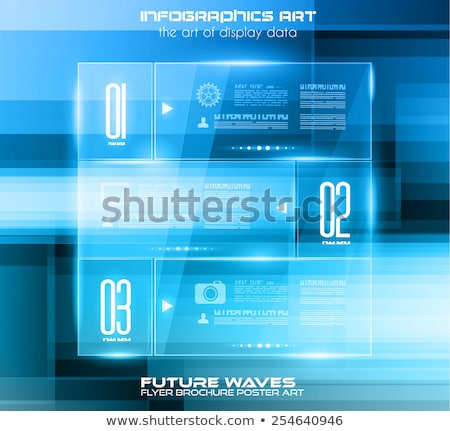Infographic Layout with Spotlights over an high tech background  Stock photo © DavidArts