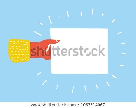 Businessman writing on empty paper sheet Stock photo © AndreyPopov