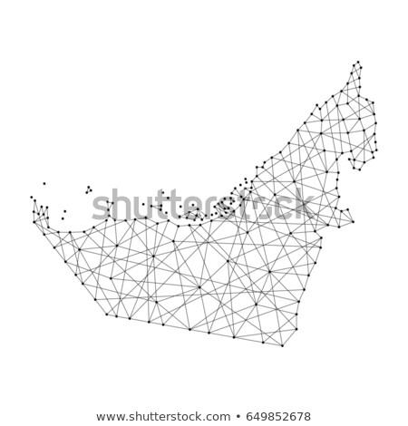 Harita Birleşik Arap Emirlikleri Abu Dabi nokta model vektör Stok fotoğraf © Istanbul2009