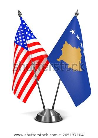 USA Kosovo miniatura bandiere isolato bianco Foto d'archivio © tashatuvango