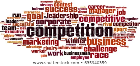 Competition word cloud Stock photo © tang90246
