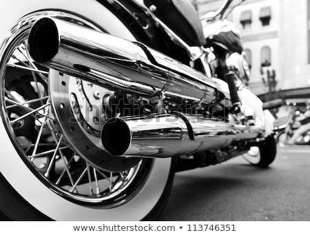moped · sziluett · tipikus · 1960 · stílus · motor - stock fotó © kokimk