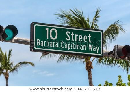 Zuiden strand straat teken Miami Stockfoto © meinzahn