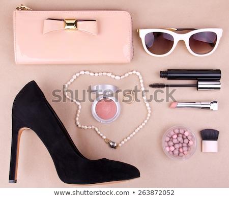Clásico zapatos de mujer negro bolso embrague aislado Foto stock © Elisanth