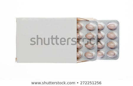 Gris cuadro marrón pastillas ampolla Pack Foto stock © ironstealth