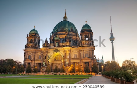 Berliner Dom cathedral in the morning Stock photo © AndreyKr