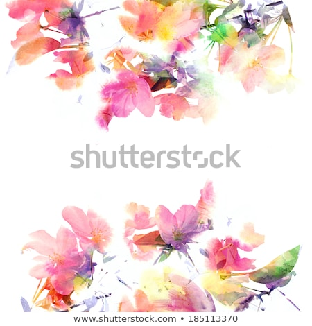 Colorful spring painting. Stock photo © EFischen