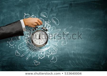 czasu · pracy · zegar · pracy · kariery · zadanie - zdjęcia stock © vectorikart