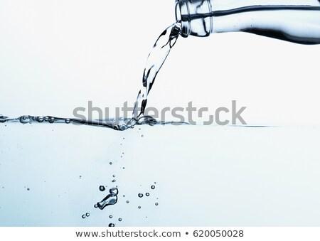 Agua vidrio creativa azul cascada Foto stock © fanfo