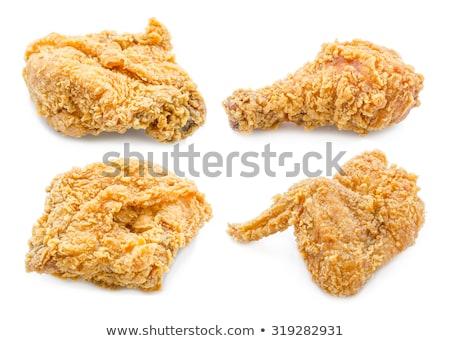 жареная · курица · ног · чаши · таблице · куриные · группа - Сток-фото © juniart