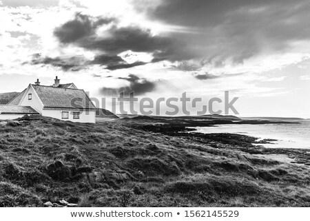 feketefehér · tengerparti · díszlet · magas · döntés · fotó - stock fotó © Sportactive