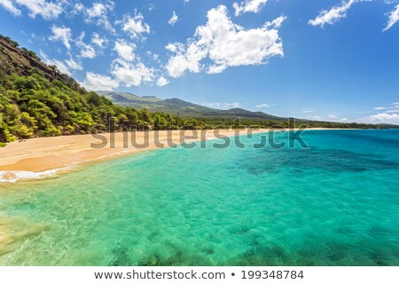 Hawaii vue nature paysage montagne Photo stock © iofoto