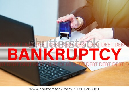 Insolvent stamp on financial paper Stock photo © fuzzbones0