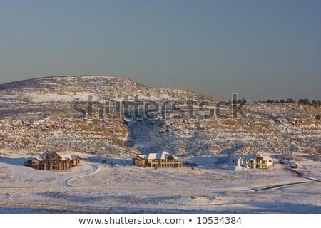 new luxury house on mountainside in Colorado Front Range Stock photo © PixelsAway