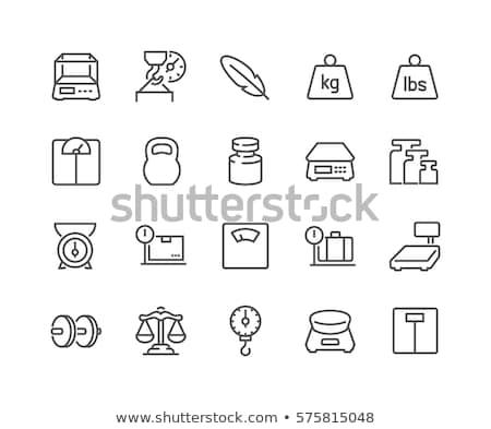weighing scale thin line icon stock photo © rastudio