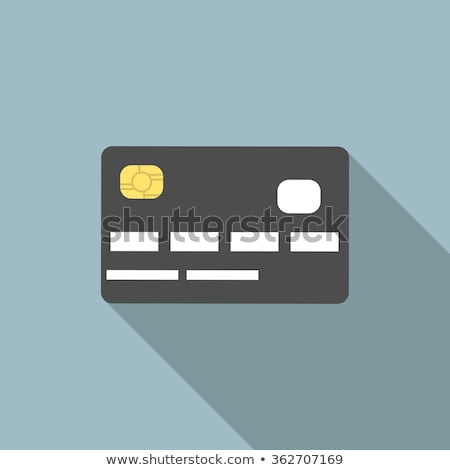Credit cards, front view (no transparency). EPS 8 Stock photo © beholdereye
