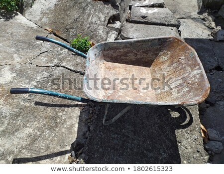 Empty Industrial Handcart on Construction Site Stock photo © stevanovicigor