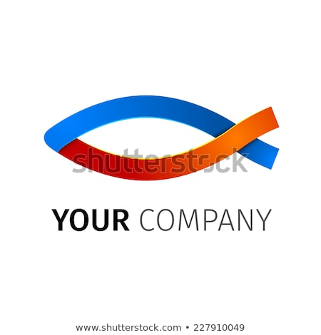 Abstact ribbon Logo template. stock photo © netkov1