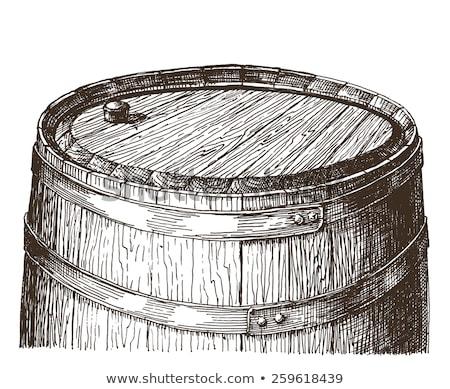 Doodle barile rum vettore immagine ottimo Foto d'archivio © netkov1
