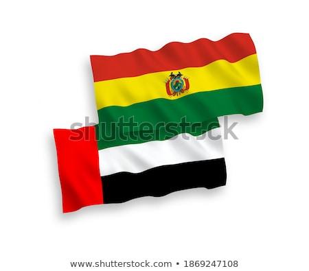 Birleşik Arap Emirlikleri Bolivya bayraklar bilmece yalıtılmış beyaz Stok fotoğraf © Istanbul2009