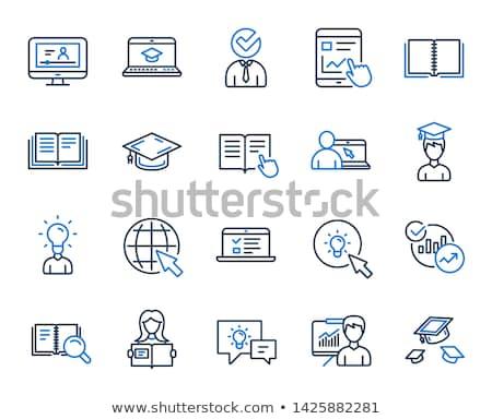 Stock photo: Mouse Sign blue Vector Icon Design