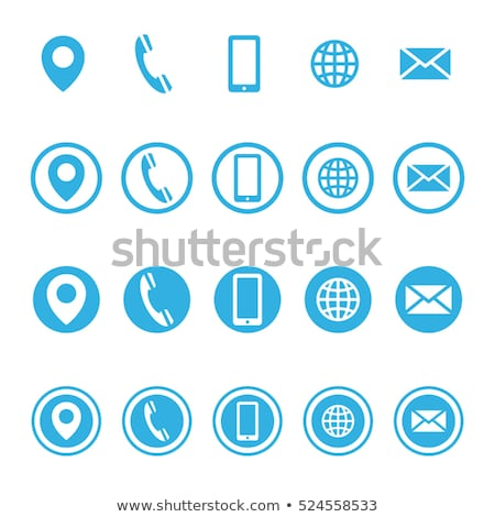 ベクトル 青 ウェブのアイコン ウェブ メール ストックフォト © rizwanali3d