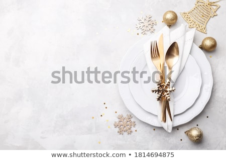 Christmas menu background Stock photo © marimorena