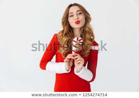 kadın · elbise · Noel - stok fotoğraf © nyul