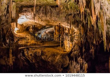 красочный пещера рок Нью-Мексико колонки удаленных Сток-фото © wildnerdpix