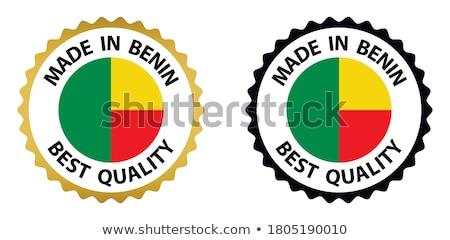 Benin país bandeira mapa forma texto Foto stock © tony4urban