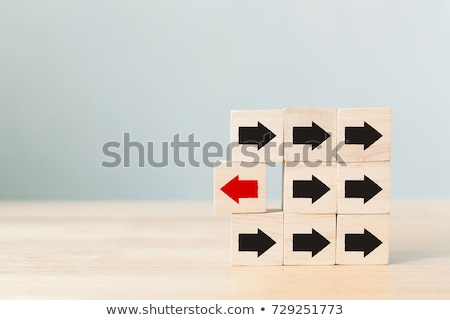 Opposite direction wooden sign Stock photo © stevanovicigor