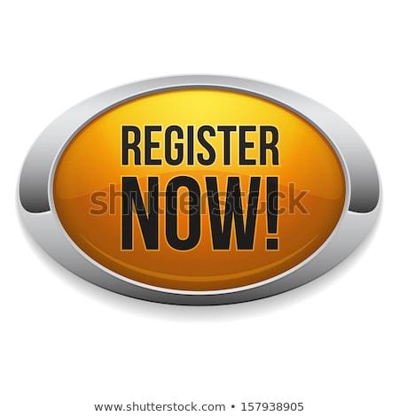 register now yellow vector icon design stock photo © rizwanali3d
