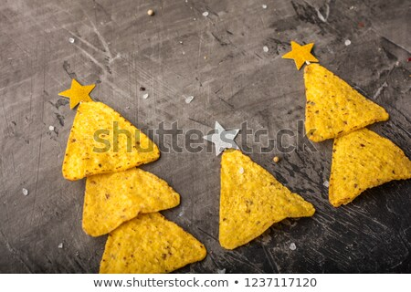 Christmas tortilla chips and salsa Stock photo © fotogal