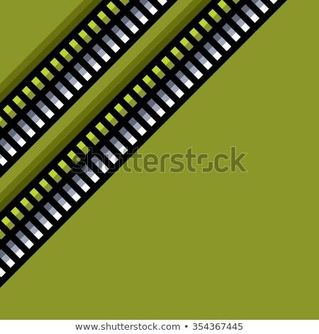 Acél techno csövek minta zöld háttérvilágítás Stock fotó © Melvin07