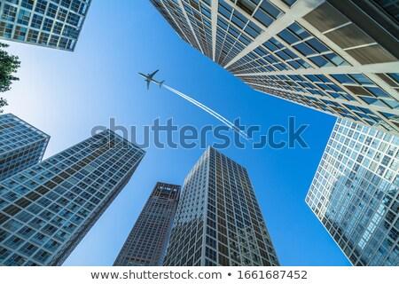 плоскости город небе здании искусства путешествия Сток-фото © igorij