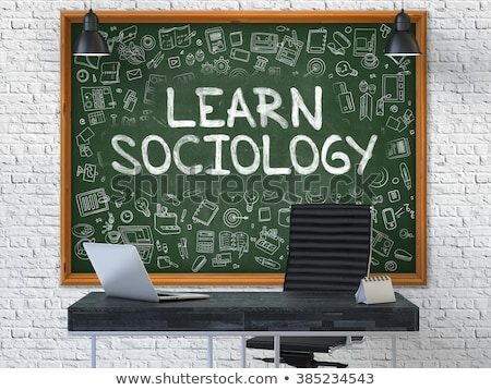 Hand Drawn Learn Sociology Concept on Chalkboard. Stock photo © tashatuvango