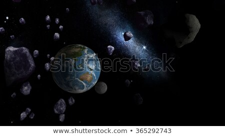 large asteroid approaching earth stock photo © ankarb