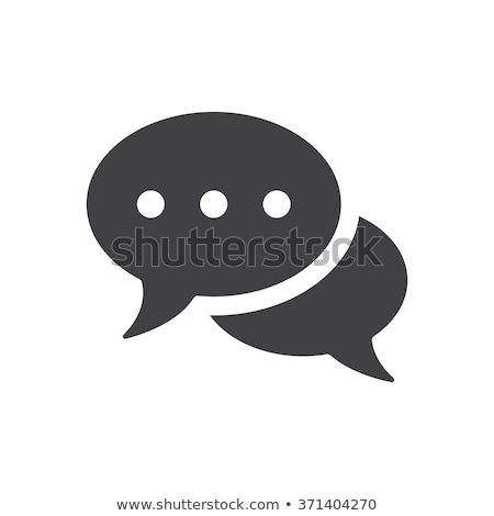 Live chat speech bubble icon Stock photo © kiddaikiddee