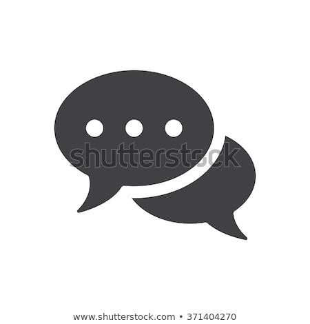 Yaşamak sohbet konuşma balonu ikon Internet dizayn Stok fotoğraf © kiddaikiddee