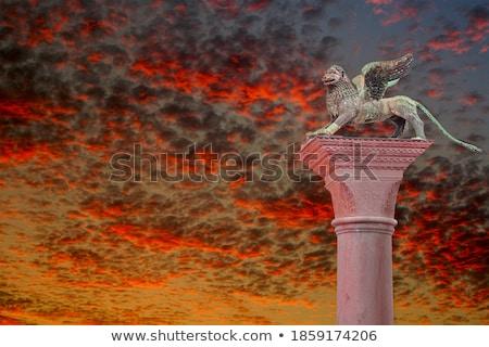 medieval lion, symbol of Venice republic, Italy Stock photo © meinzahn