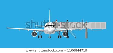 Avión embarque puente aeropuerto puerta Foto stock © Kzenon