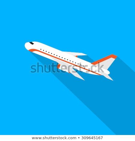 Cloud icon , Flat design style, vector illustration. long shadow Stock photo © jabkitticha