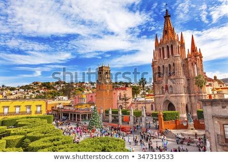 Kerk Mexico stad vierkante gebouw architectuur Stockfoto © billperry