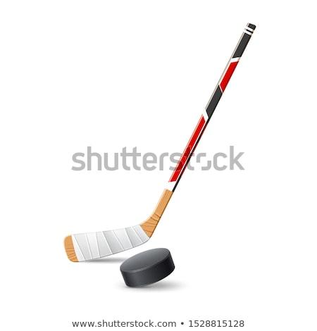 Hockey puck line icon. Stock photo © RAStudio