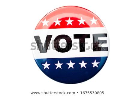 amerikai · szavazás · gomb · közelkép · lövés · egy - stock fotó © creisinger